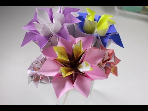 Origami dandelion fold a paper dandelion flower youtube kat origami flower paper delphinum diy crafts in this video i show you how to make these cute paper delphinum mightylinksfo