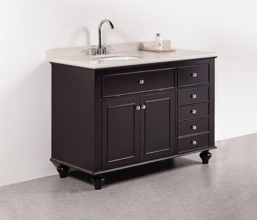Woodland Golden Elite 48 Dark Brown Traditional Bathroom Vanity