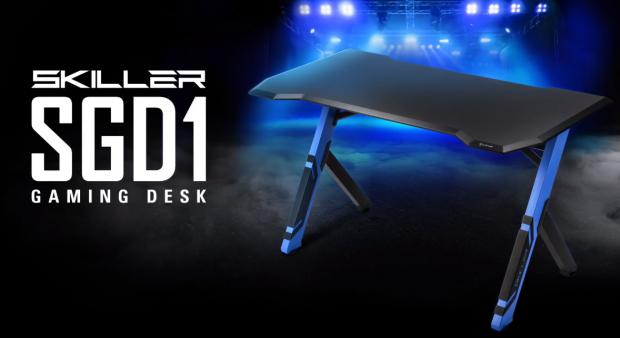Sharkoon Skiller Sgd1 Ergonomic Gaming Desk Made From Robust Materials Gaming Desk Desk Ergonomics