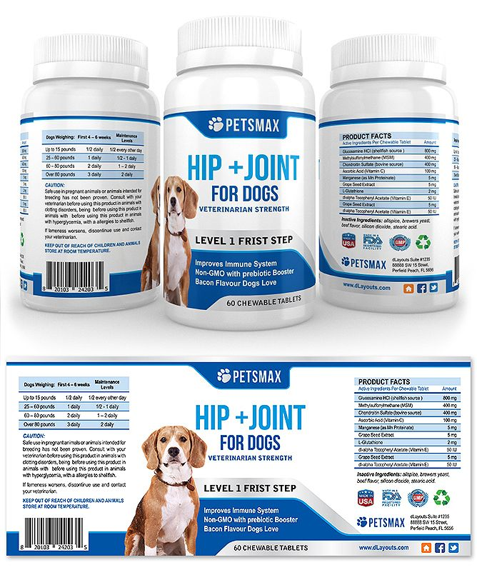 Pet Hip And Joint Supplement Label Template HttpWwwDlayouts