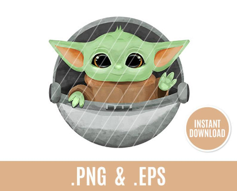 Baby Yoda Clip Art Transparent Png Eps Star Wars Space Etsy Yoda Png Star Wars Art Anime Art Tutorial