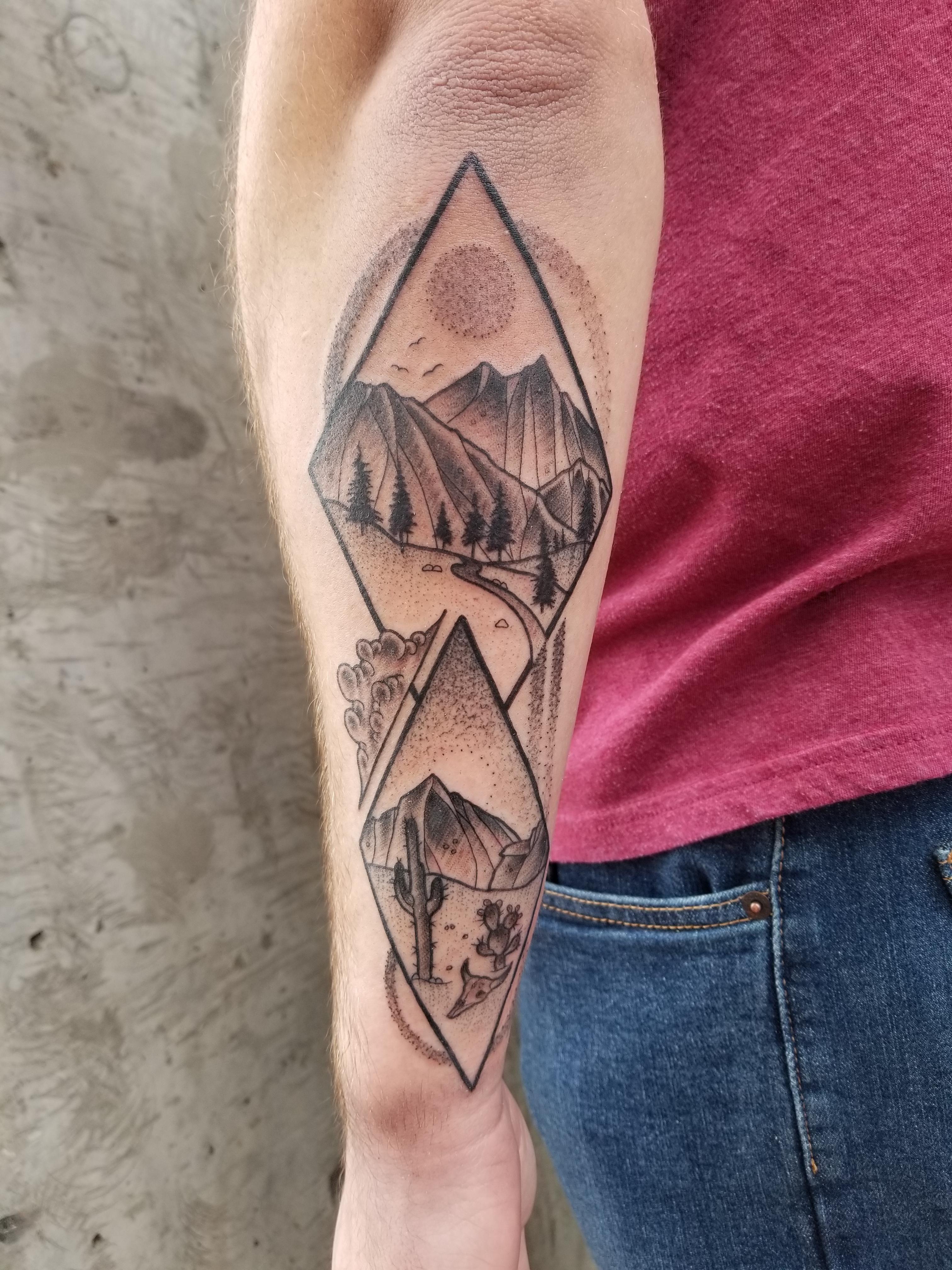 "My fresh ""Ode to Arizona"" by Anthony Triana at 27 Tattoo"