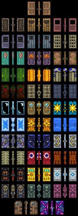 Terraria- Doors  sc 1 st  Pinterest & Terraria- Doors | Terraria | Pinterest | Terraria Retro video games ...