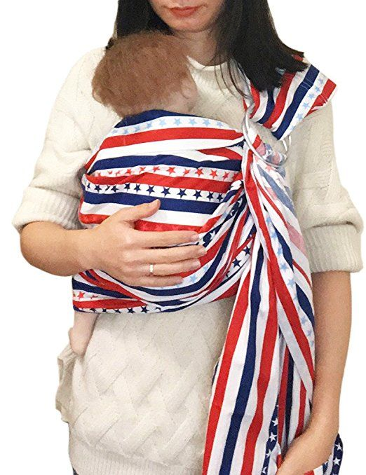 f5c363bb3a0 Amazon.com   Vlokup Baby Ring Sling Wrap Carrier