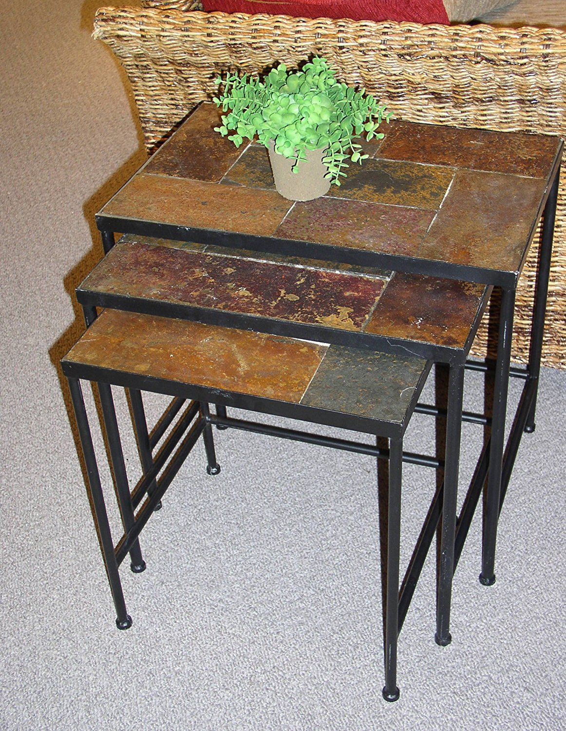 Charmant Slate End Tables