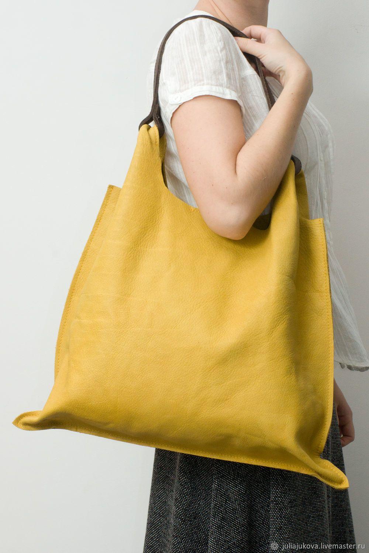 b8d58acda5b0 Jukova Julia bags Купить Желтая сумка мешок, натуральная кожа,