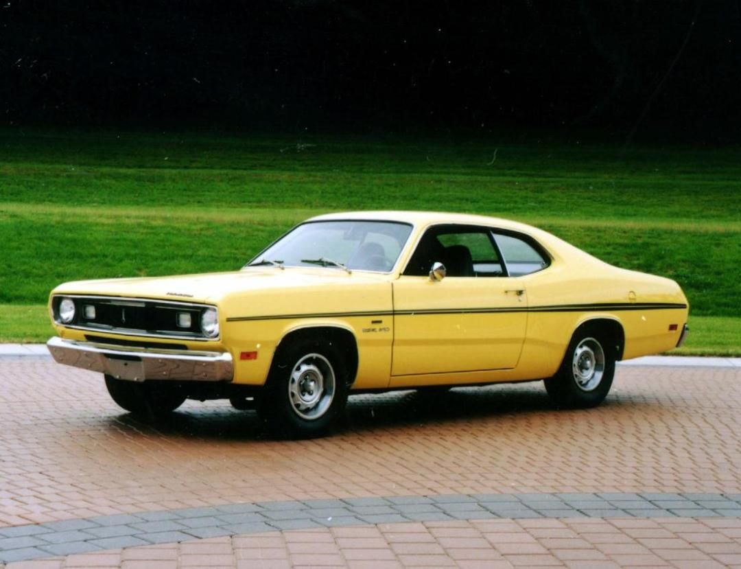 Yellow plymouth duster 340 twister