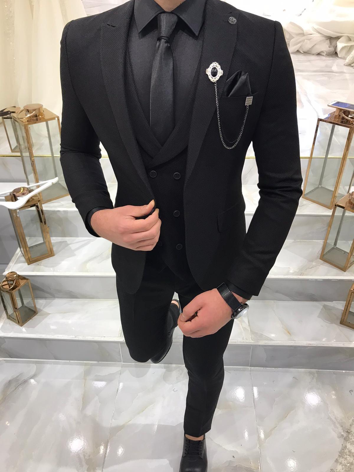 Camillus Black Slim Fit Wool Suit Bespoke Daily Dress Suits For Men Fashion Suits For Men Black Suit Men [ 1600 x 1200 Pixel ]