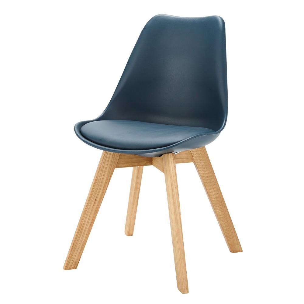 Scandinavian Style Chair In Blue Maisons Du Monde Skandinavische Stuhle Stuhle Blaue Stuhle