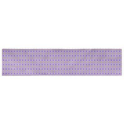Latitude Run Avicia Geometric Diamonds Table Runner Size 73 5 X 17 5 Colour Purple Yellow Material Cotton In 2020 Striped Table Runner Table Runner Size Purple Yellow