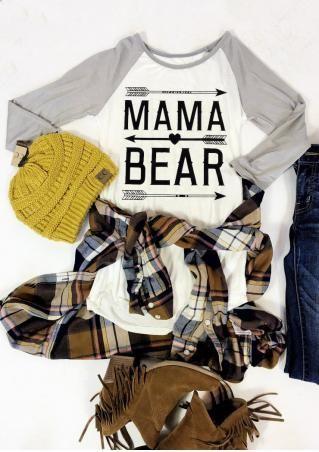 bf898c7b MAMA BEAR Arrow Printed Plus Size T-Shirt | My Style | Pinterest ...