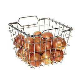 Chrome Wire Storage Basket Container Store For The Bakers
