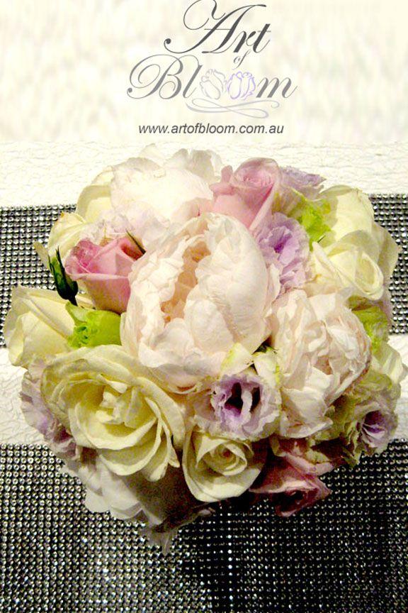 Peony Wedding Posy With Roses And Lisianthus Sydney Wedding Flowers