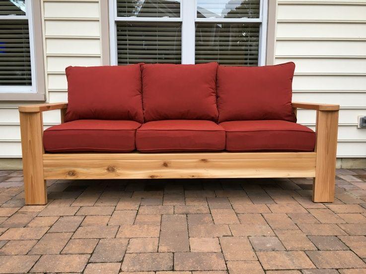 Outdoor Cedar Sofa Kreg Jig Made An Outdoor Sofa Inspired By An