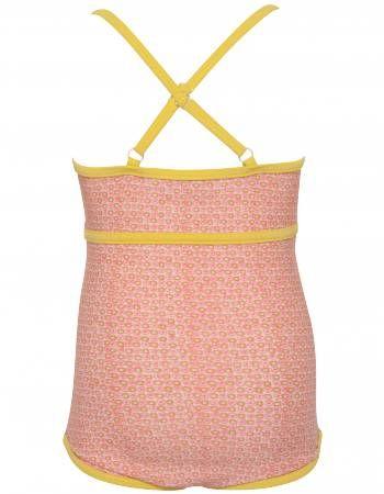 Noa Noa Miniature badedragt med coral blomster print og gule stropper - kids of luxury 160 kr.