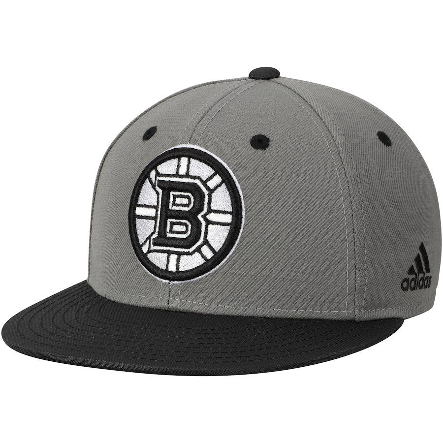 11a927beee1c6 Men s Boston Bruins adidas Gray Black Ballistic Fitted Hat