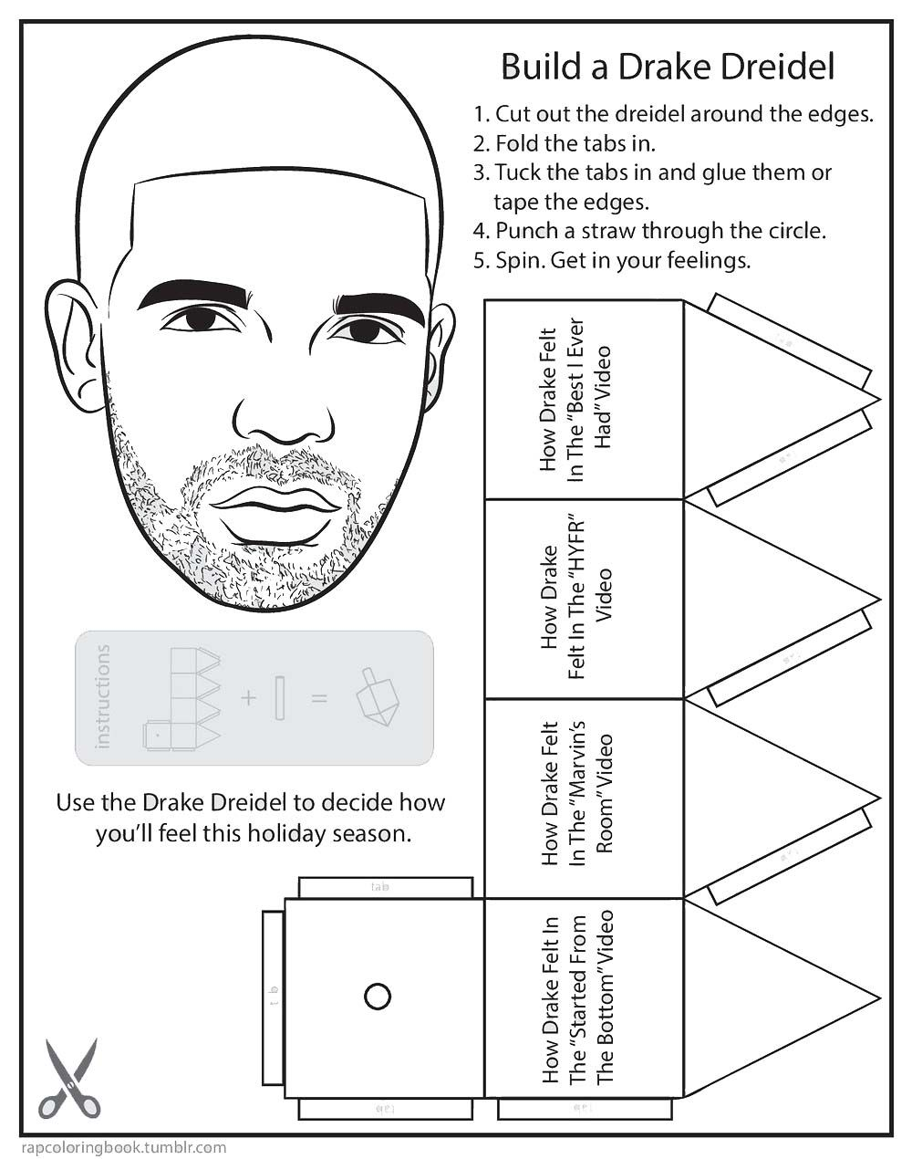 Free drake coloring pages hand crafts template printable for kids and adults