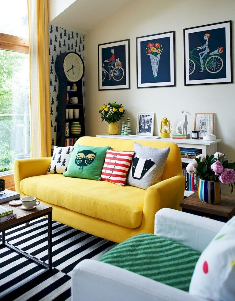 54+ Comfy Modern Eclectic Living Room Decorating Ideas