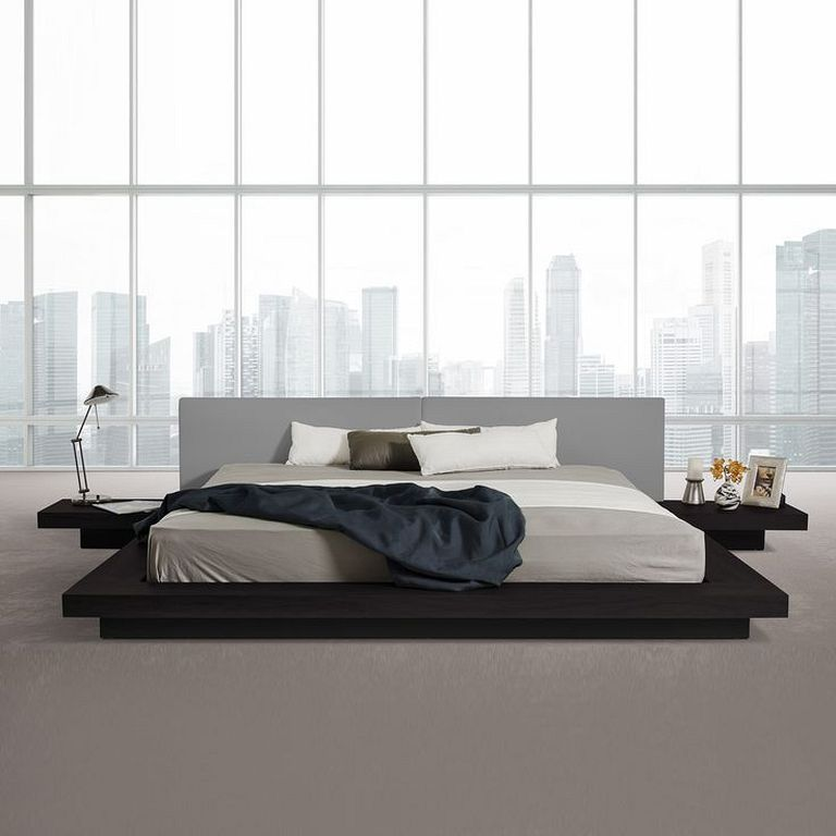 30 Wooden Low Bed Frame Designs For King Size Modern Platform Bed Modern Bed Platform Bed