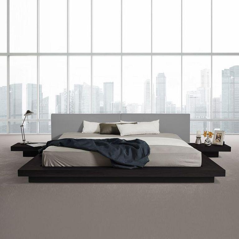 30 Wooden Low Bed Frame Designs For King Size Modern Platform