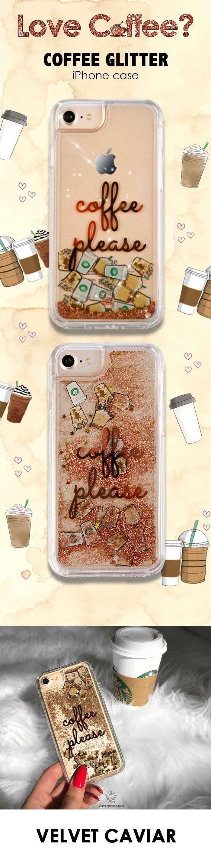 finest selection 7b8e9 294f6 Coffee Please Glitter iPhone Case | phone cases. | Iphone cases ...
