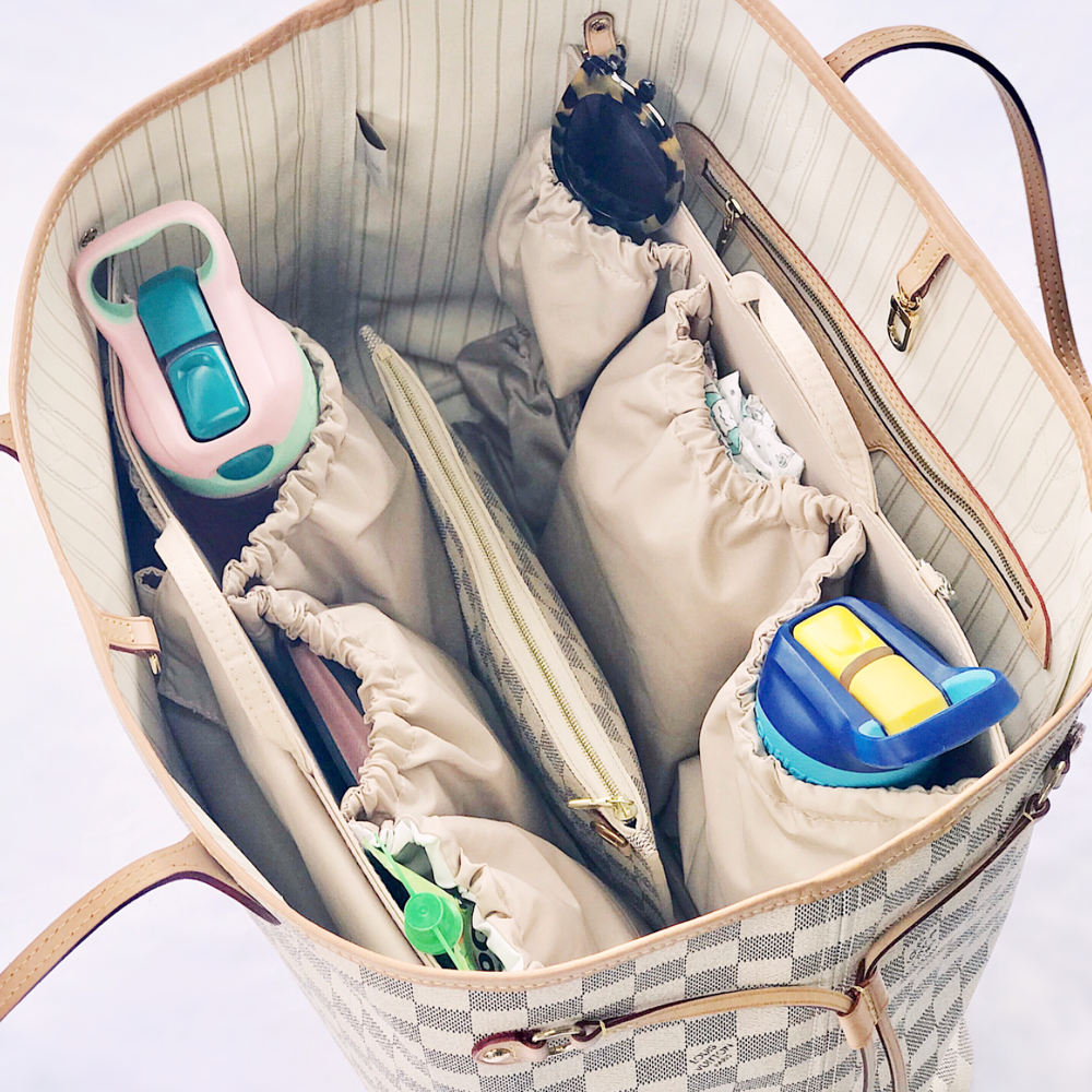 Backpack Transform Any Moms Purse Or Tote Bag Handbag Diaper Bag Insert Organizer for Mom with 5 Outside /& 6 Inside Storage Pockets