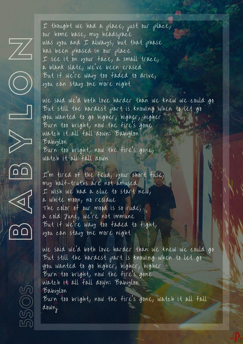 Babylon Lyric Youngblood 5sos Babylon Lyrics 5sos Lyrics 5sos Wallpaper
