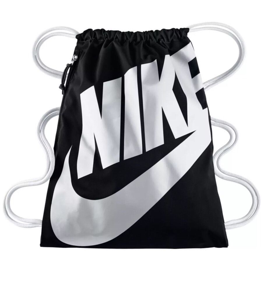 Nike Heritage Gym Sack Pack Sports Drawstring Bag Backpack Cinch Black