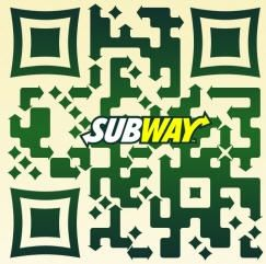 custom qr code for subway restaurants too bad they couldn t fit the