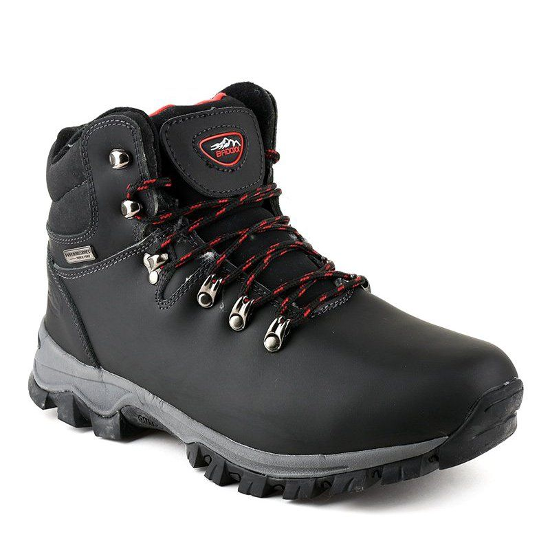 Black Insulated Snow Boots Mxc 7587l Mens Snow Boots Boots Boots Men