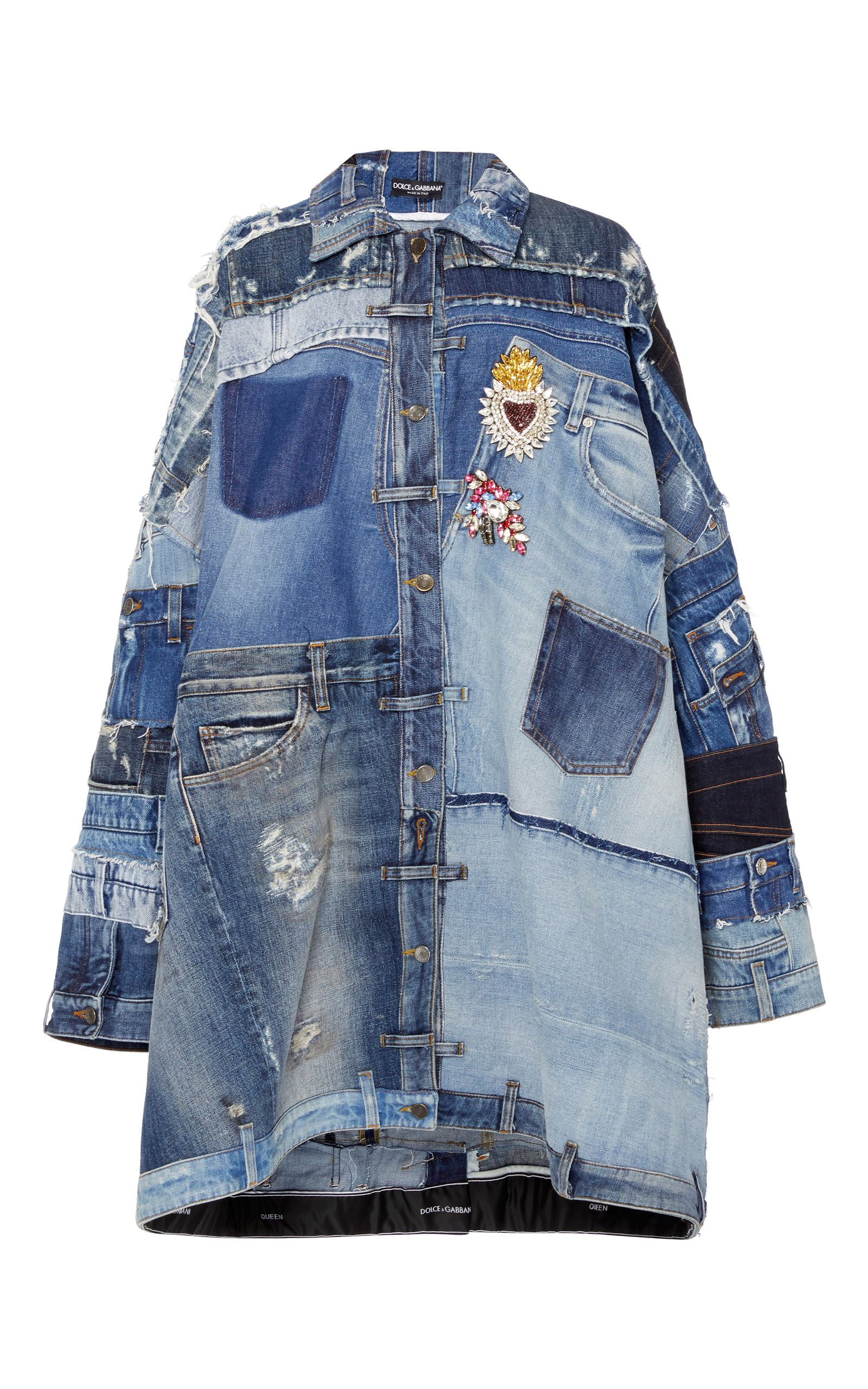 23cbc1ccbe8a Patchwork Denim Jacket by DOLCE   GABBANA for Preorder on Moda Operandi