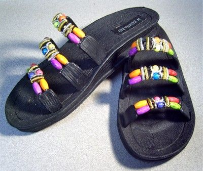 6978d8cf429fe9 Bahama Bay Multi-Colored Beaded Sandals. Size 10.  19.99  sandals  shoes   beads