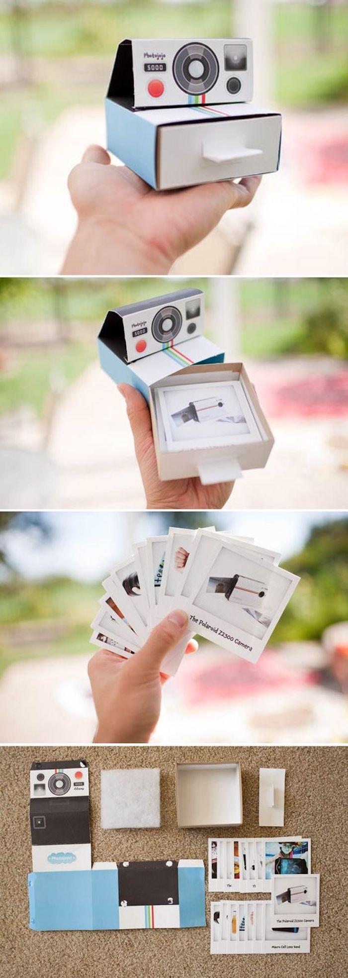 Schachtelvorlage wie einem alten Fotoapparat eine Schachtel zu basteln