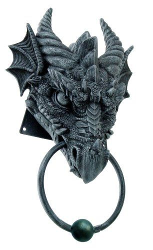 Amazon.com: 1 X ANCIENT HORNED DRAGON HEAD RESIN DOOR KNOCKER AWESOME HOME  DECOR: Home U0026 Kitchen