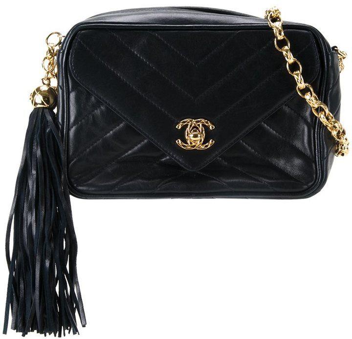 6b3e7962e49071 Chanel Vintage bijou chain vertical stripe fringe camera bag | PURSE ...