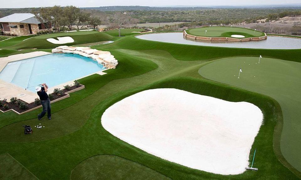 Backyard Golf Course Design backyard mini golf Golf Golf Golf David Pelzs Backyard Practice Area