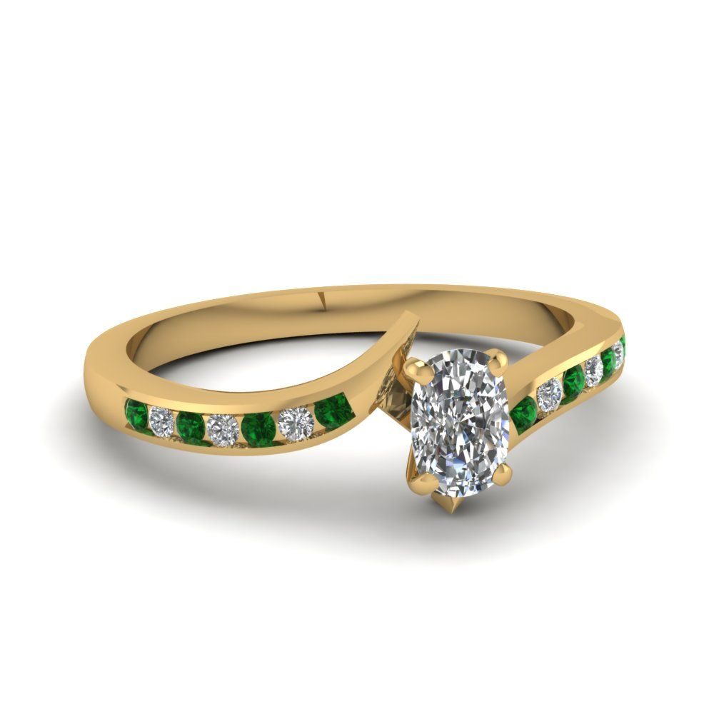 yellow-gold-cushion-white-diamond-engagement-wedding-ring-with-green-emerald-in-channel-set-FDENS3094CURGEMGR-NL-YG-30