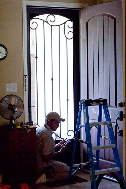 Beautiful Security Screen Door | Home, Wrought iron ...