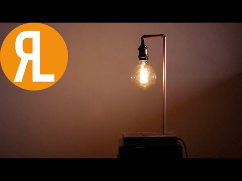This Week I Take Some Industrial Materials, Copper, Concrete, Brass And  Plywood, And Turn Them Into A Lamp. It Incorporates The Hardness Of These  Materials ...