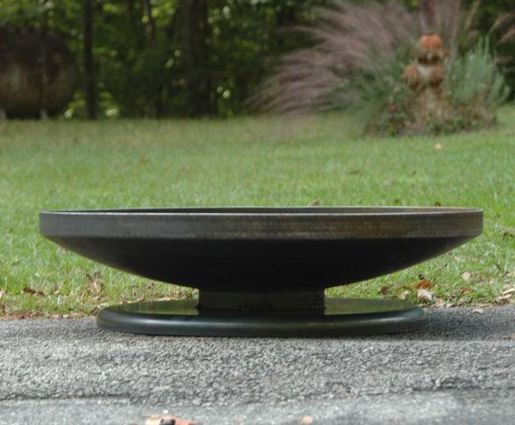 36 Inch Shallow Depth Steel Fire Pit Custom Fire Pit Etsy Outdoor Fire Pit Custom Fire Pit Outdoor Fire Pit Designs