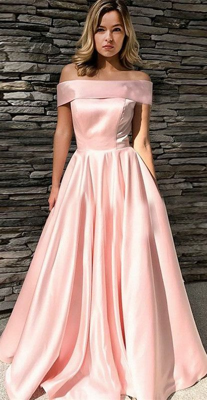 Gorgeous Off the shoulder Prom Dress, Hot Pink Long Prom Dress 2017 ...
