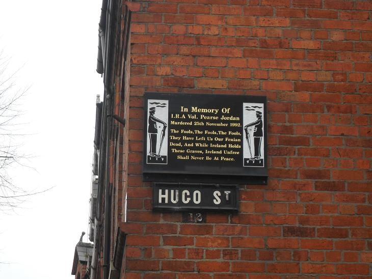 Throughout Ireland are monuments and memorials to the men and women who have sacrificed for the cause of unifying their country and freeing it from British interference. Here is an example in the Falls Road area of Belfast, with a 1915 quote from Padraic Pearse, which as we see still rings true today, almost 100 years later.