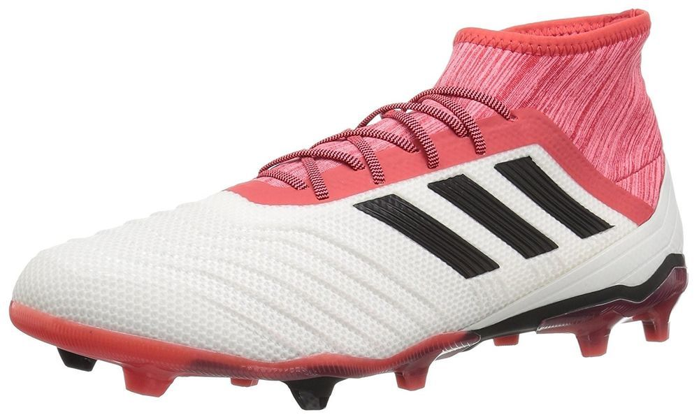 Adidas Predator 18.2 FG Soccer Shoe White Core Black Real Coral size ... 71e531d68