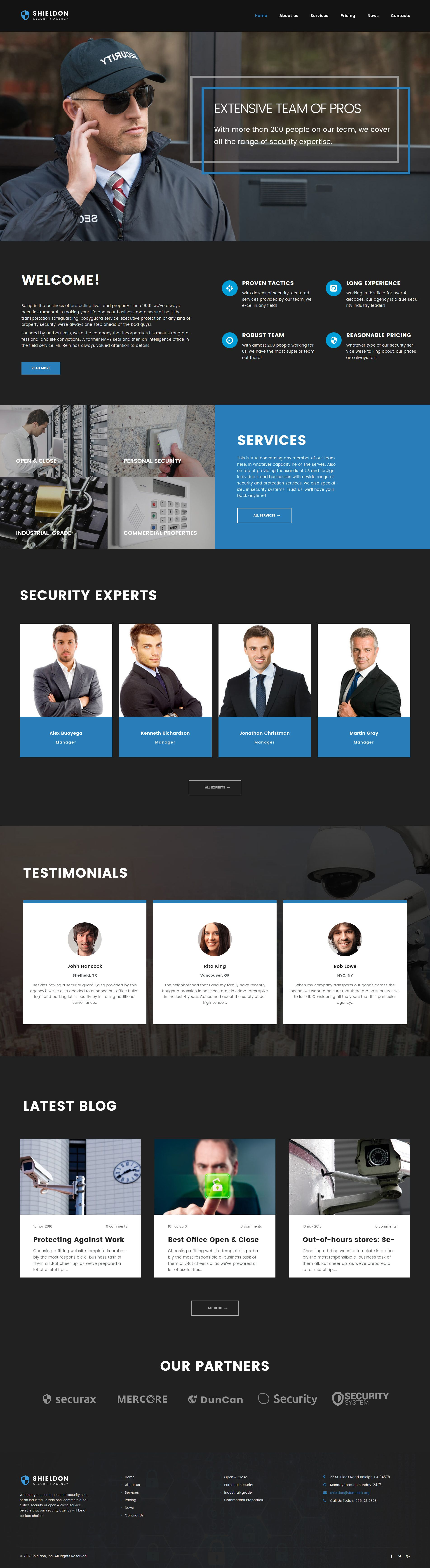 Shieldon - Security Agency Responsive - WordPress Template ...