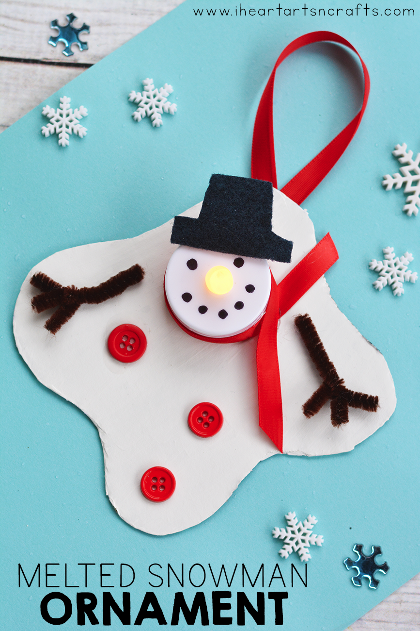 Melted Snowman Tea Light Ornament I Heart Arts N Crafts Christmas Crafts Kids Christmas Ornaments Childrens Christmas Crafts