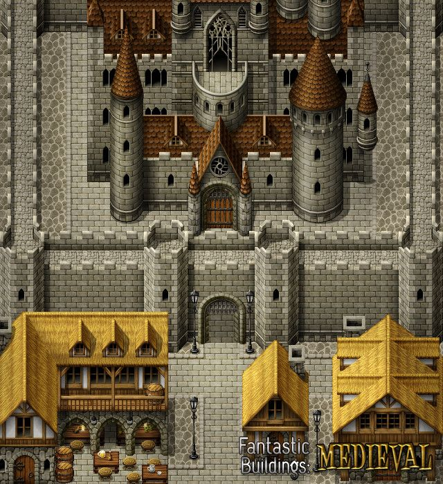 RPG Maker VX Ace - Fantastic Buildings: Medieval | 2d tile