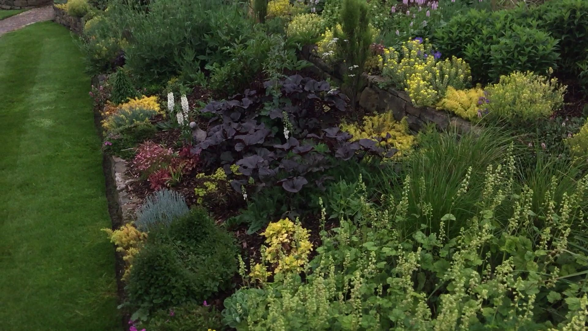 Photo of A Split Level Garden Design with a Herbaceous Planting Plan
