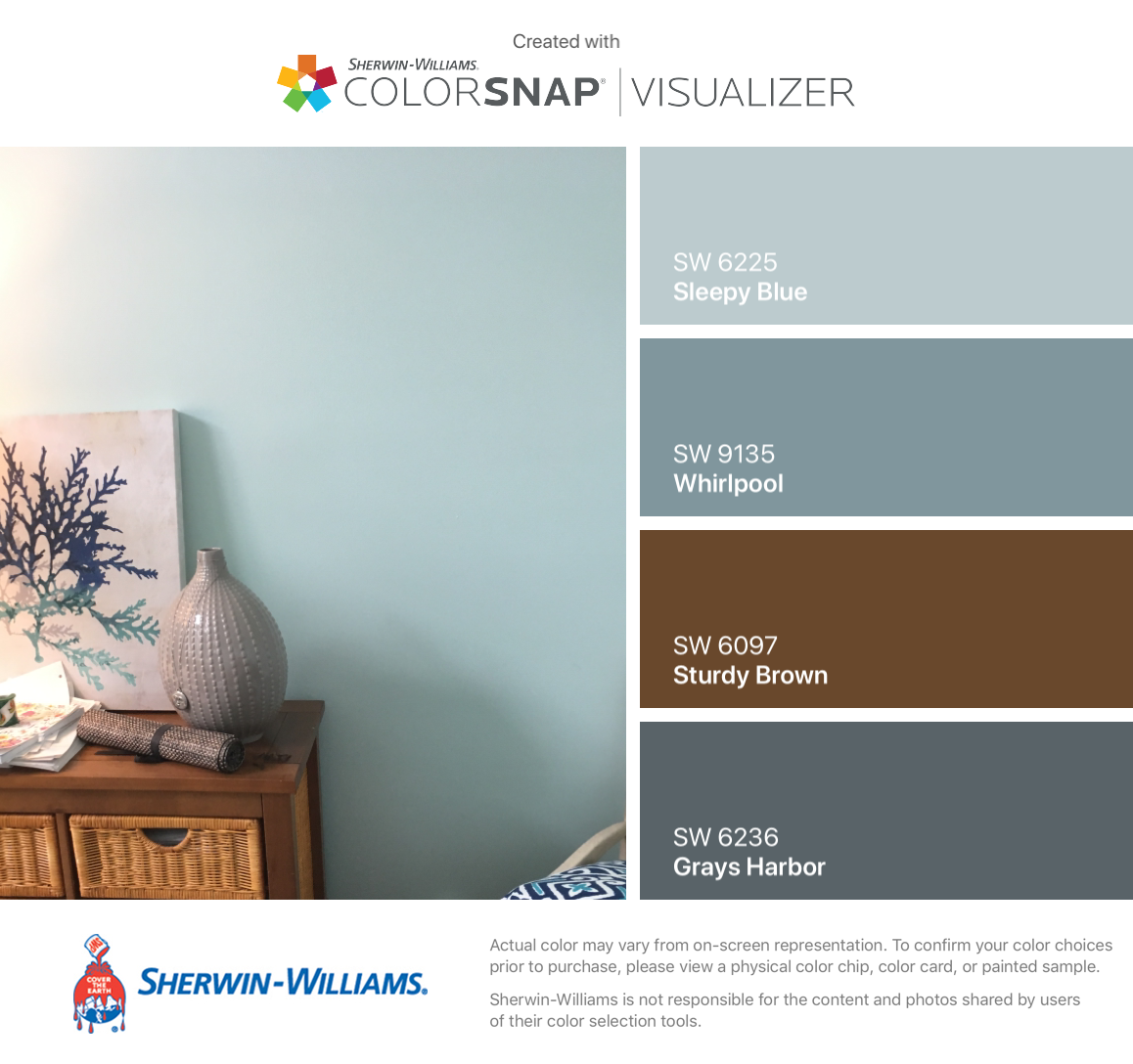 I Found These Colors With Colorsnap Visualizer For Iphone By Sherwin Williams Sleepy Blue House Color Schemes Interior Blue Color Schemes Blue Color Pallet [ 1088 x 1158 Pixel ]