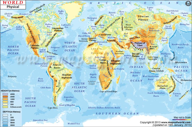 World physical map mountain ranges deserts etc click on each world physical map mountain ranges deserts etc click on each country for even more details gumiabroncs Images