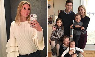 The president-elect's daughter posed for a portrait with her husband Jared, their three children and her maternal grandmother, later posting the image on social media to say she felt 'blessed'.